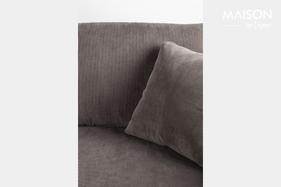 3-Sitzer Sofa Dragon in dunkelgrauem Cord | Maison en Vogue