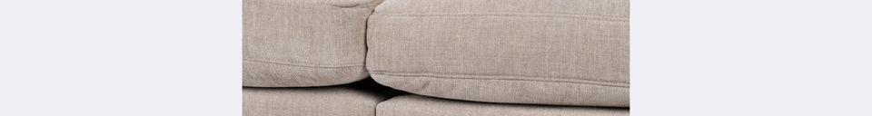 Materialbeschreibung 3-Sitzer Sofa Summer latte
