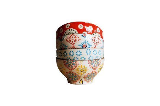 4 bohemian Keramikschalen