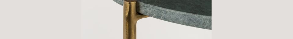 Materialbeschreibung Beistelltisch aus grünem Marmor Timpa