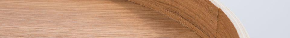 Materialbeschreibung Beistelltisch mit Eichenplatte Tray