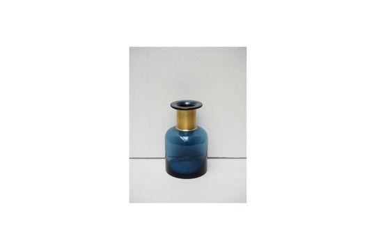 Blaue Flaschenvase Pharmacie mit goldenem Hals