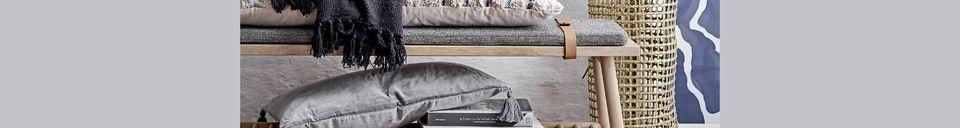 Materialbeschreibung Blaue Tagesdecke Charency aus recycelter Baumwolle