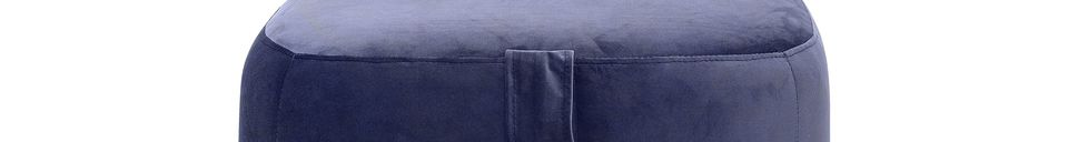 Materialbeschreibung Blauer Pouf Bella