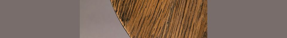 Materialbeschreibung Brauner Beistelltisch Pepper 40 cm
