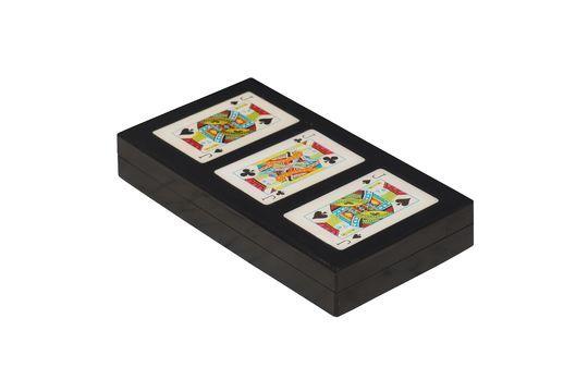 Bunte Schachtel mit 3 Kartenspielen Rezza