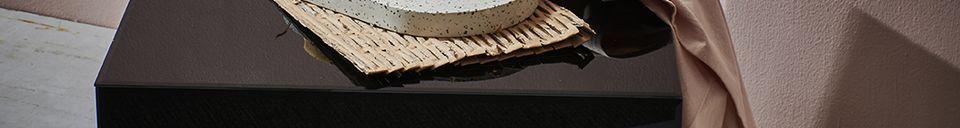 Materialbeschreibung Couchtisch Aussos aus Korbweide