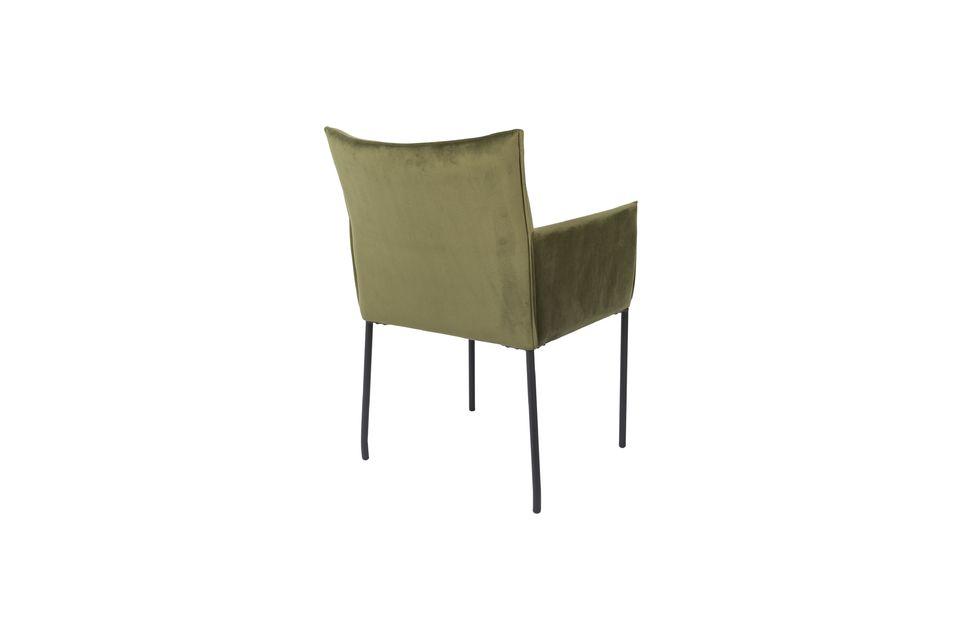 Dion-Sessel aus olivgrünem Samt - 7