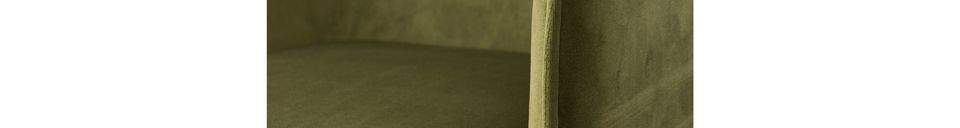 Materialbeschreibung Dion-Sessel aus olivgrünem Samt