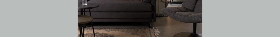Materialbeschreibung Dunkelgraues Linde-Sofa