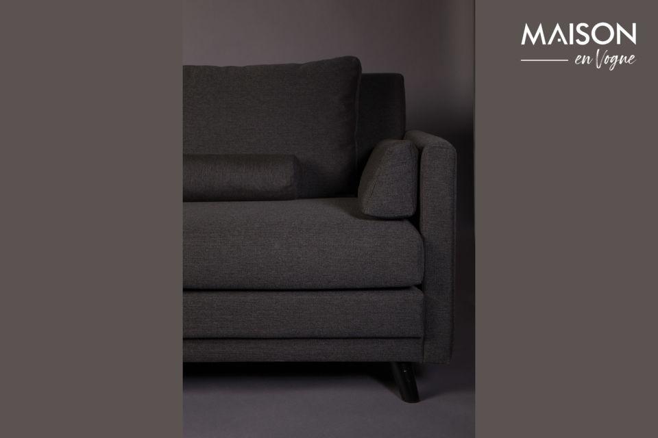 Dieses Sofa wird mit 6 abnehmbaren Kissen für maximalen Komfort geliefert