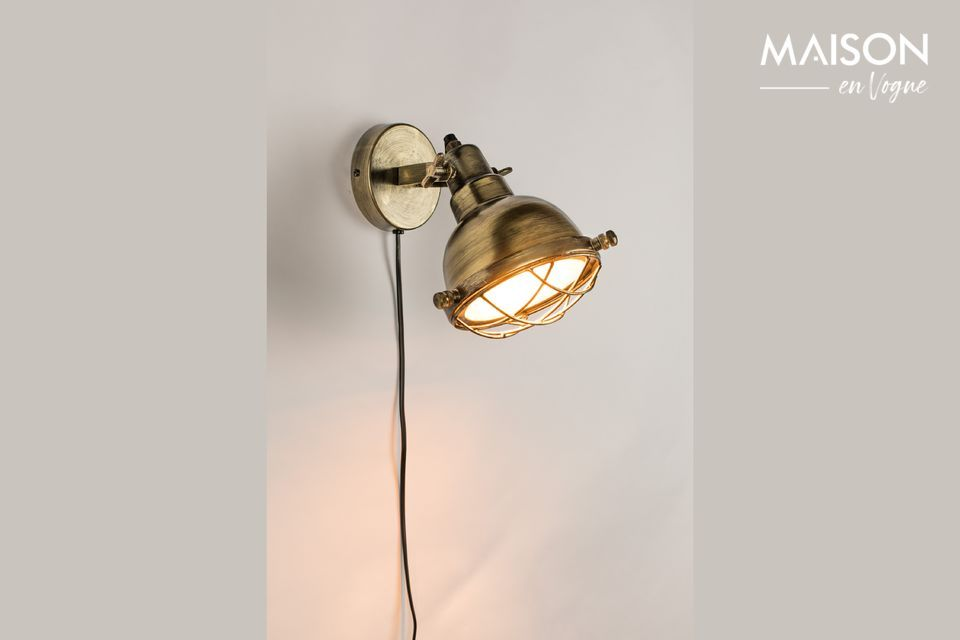 Evan-Wandlampe aus Messing