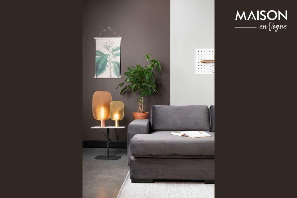 Fiep-Sofa links in grauem Samt - 3