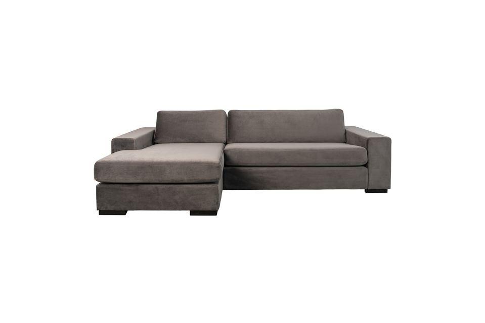 Fiep-Sofa links in grauem Samt - 4