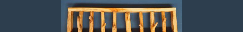 Materialbeschreibung Garderobenständer Gigny Wood