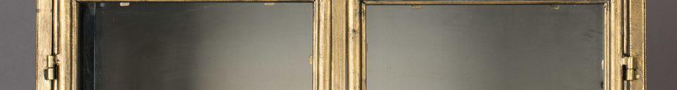 Materialbeschreibung Gertlush-Metall-Vitrine