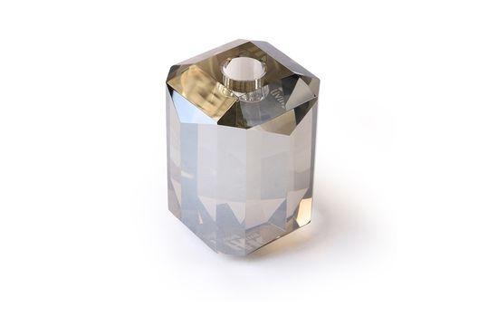 Glas-Kerzenhalter Kristallgrauer Diamant