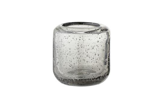 Graue Luzillat-Glaslaterne für Votivkerze