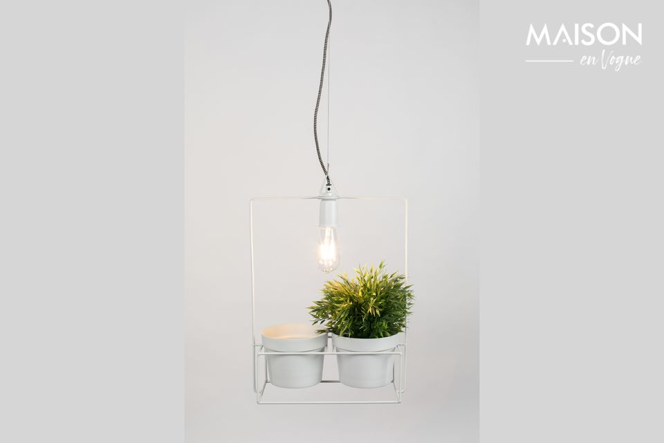 Wie wäre es, eine Lampe mit Blumentöpfen zu mischen?