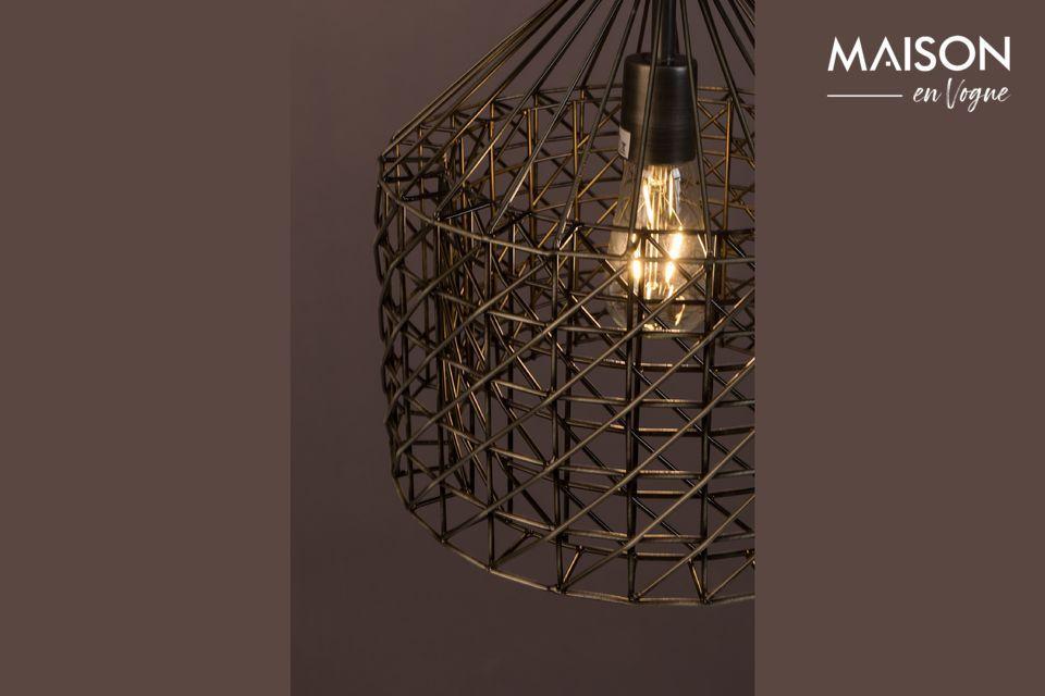 Diese Lampe verbindet durch ihren Farbton einen Vintage-Stil mit einem Design von großer