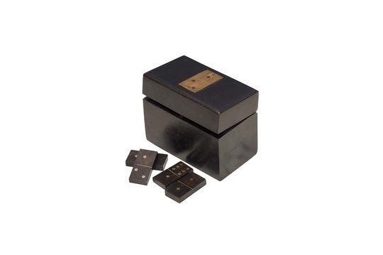 Hölzerne Bouhey-Domino-Box mit Messingdetails