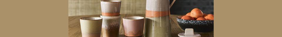 Materialbeschreibung Keramische 70er Jahre Kaffeekanne