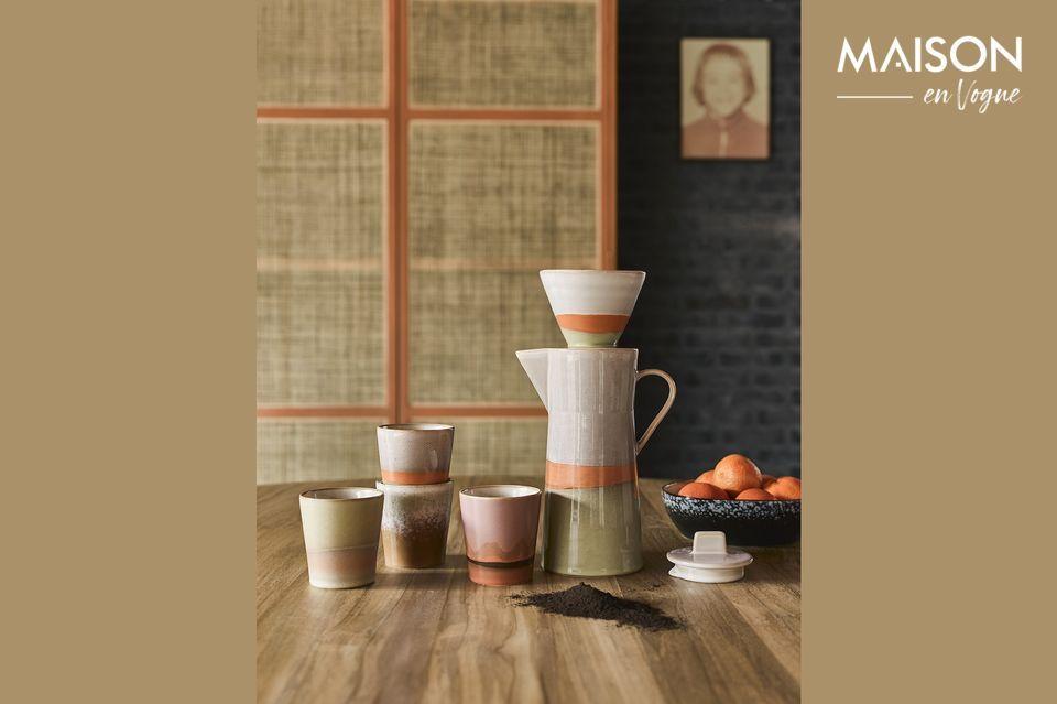 Keramische 70er Jahre Kaffeekanne HK Living