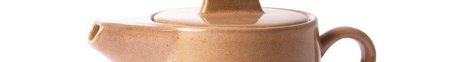 Materialbeschreibung Keramische 70er Jahre Teekanne