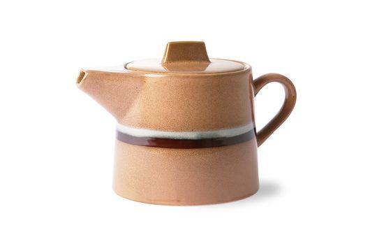 Keramische 70er Jahre Teekanne