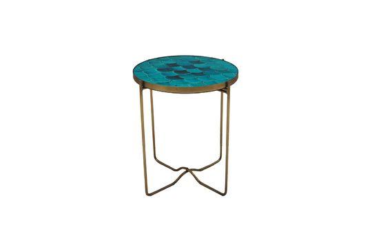 Keramischer Beistelltisch mit blauen Keramik-Schuppen Séguret