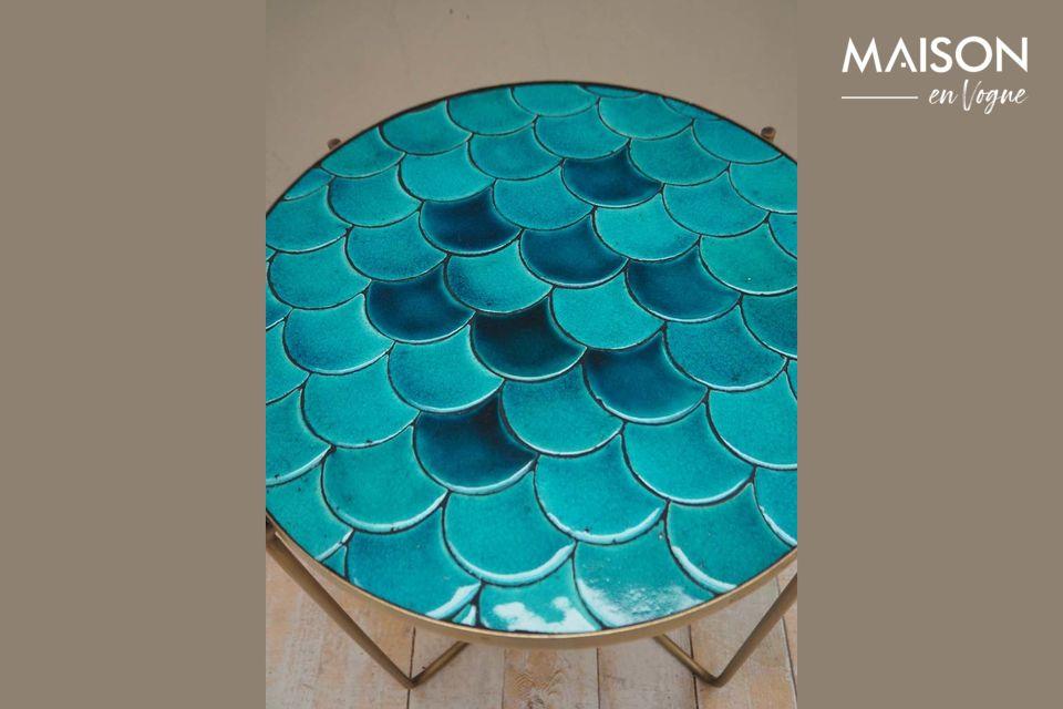 Der Beistelltisch Séguret bietet mit seinen blauen