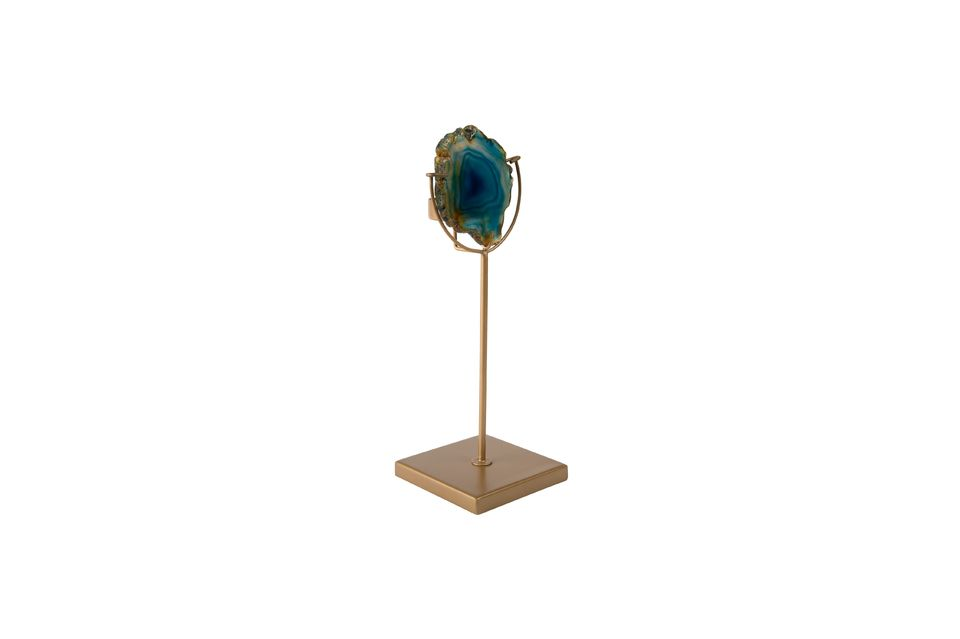 Kerzenhalter Gem blau - 5