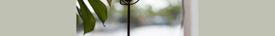 Materialbeschreibung Kerzenhalter Gem und sein gelber Achat