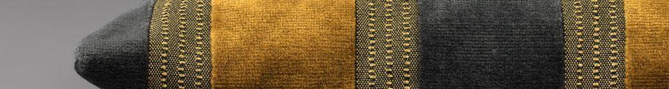 Materialbeschreibung Kissen Scott gelb und grau