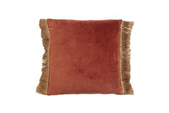 Kissenbezug Feuxhy aus terrakotta-farbenem Samt