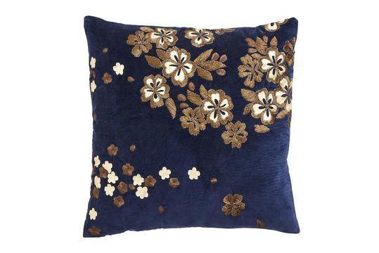 Kissenbezug Velvet Flower mit Stickerei