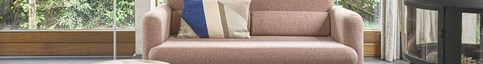 Materialbeschreibung Korallenrotes Studio-Sofa