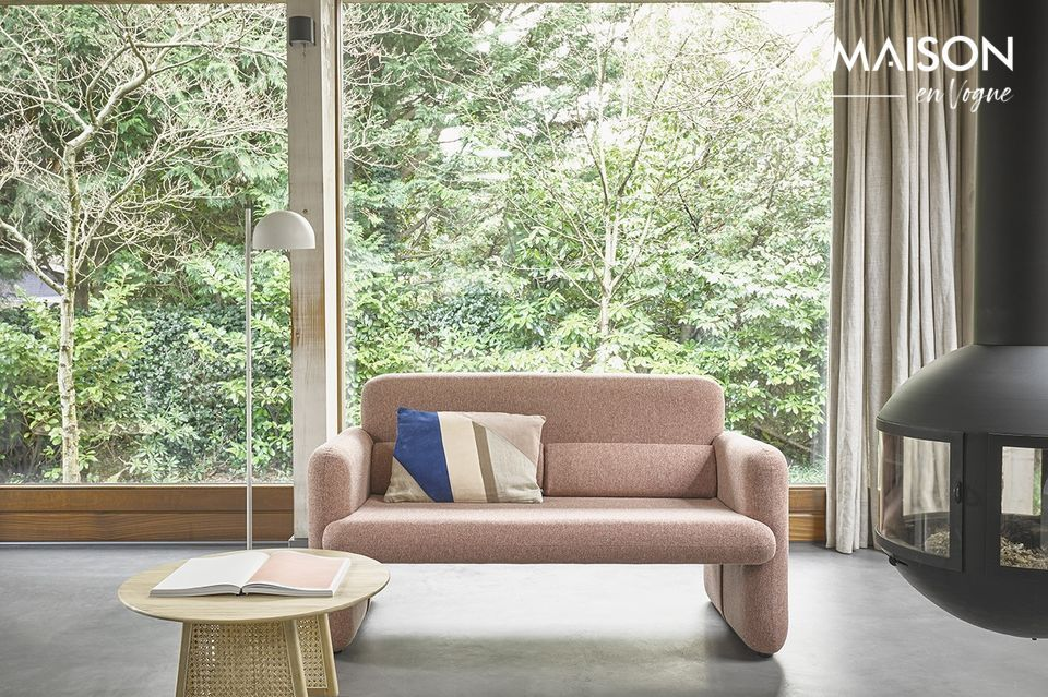 Korallenrotes Studio-Sofa HK Living