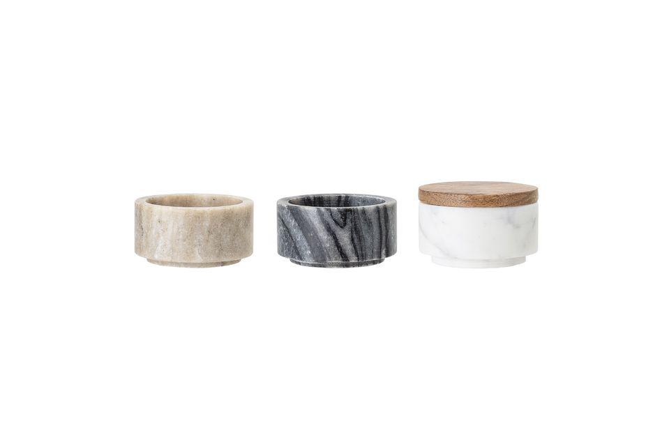 Diese drei Marmorgläser in verschiedenen Farben sind ein Muss für Ihre Küche