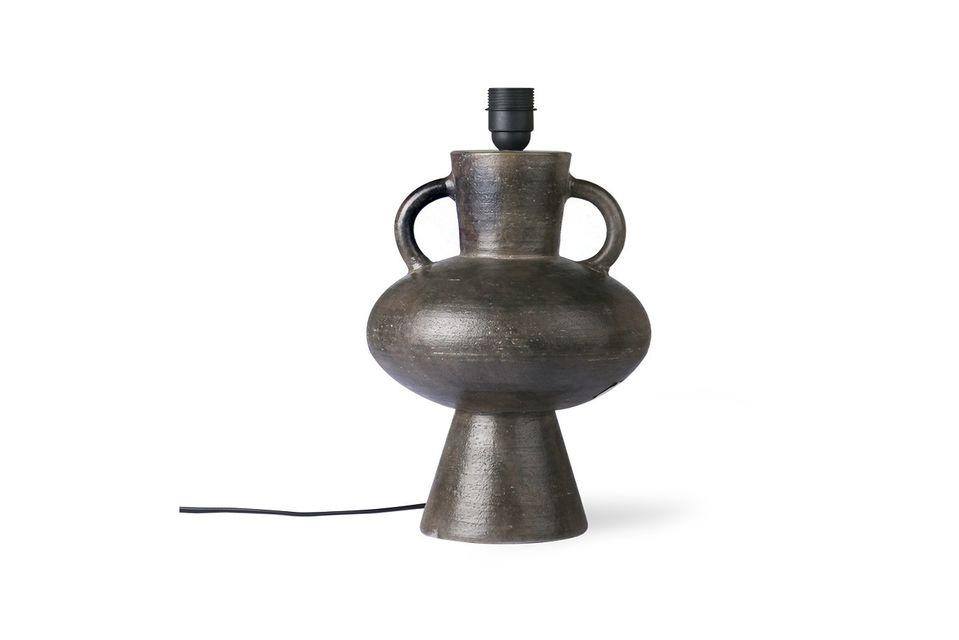 Lampensockel Curgyen aus Stein Format L anthrazit HK Living