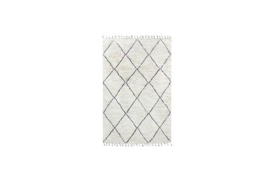 Larra-Berber-Teppich aus schwarzer und weißer Wolle