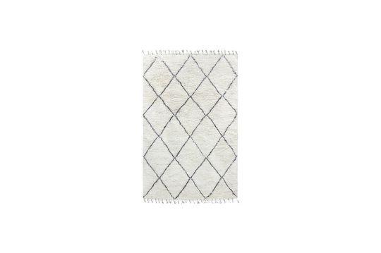 Larra großer Berberteppich aus schwarzer und weißer Wolle