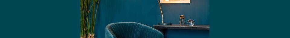 Materialbeschreibung Lounge-Sessel Dolly blau