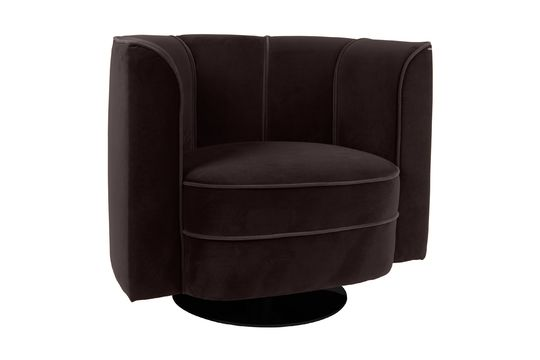 Lounge-Sessel Fleur in schwarz