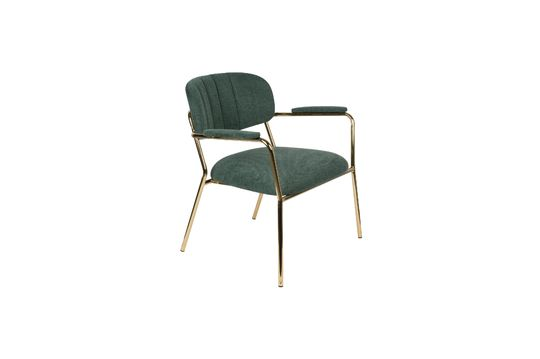 Lounge-Sessel Jolien mit goldenen und dunkelgrünen Armlehnen ohne jede Grenze