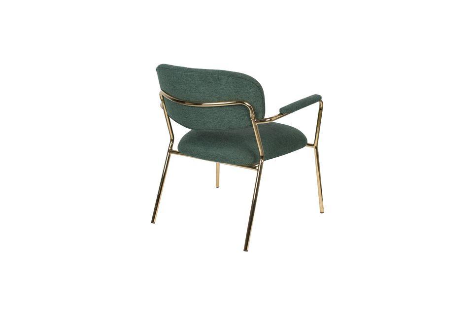 Lounge-Sessel Jolien mit goldenen und dunkelgrünen Armlehnen - 7