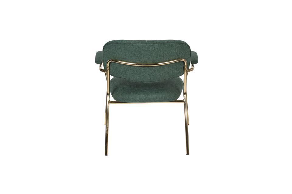 Lounge-Sessel Jolien mit goldenen und dunkelgrünen Armlehnen - 8
