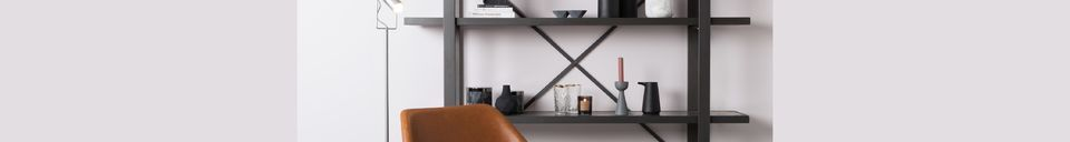 Materialbeschreibung Lounge-Stuhl Nikki braun