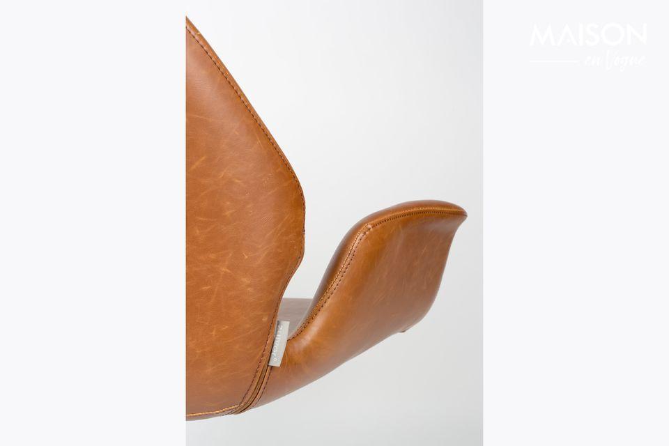 Lounge-Stuhl Nikki braun - 4