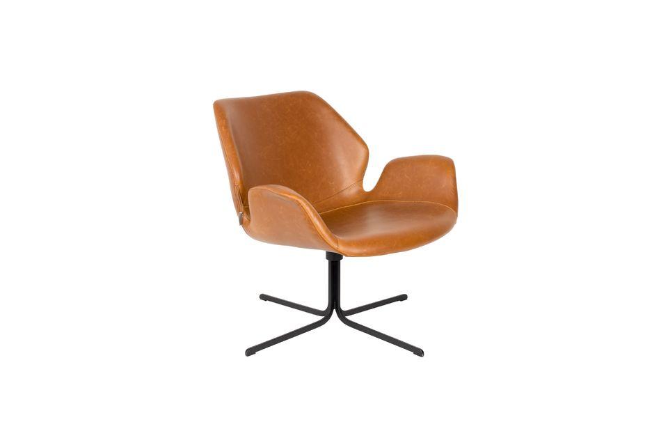 Lounge-Stuhl Nikki braun - 6